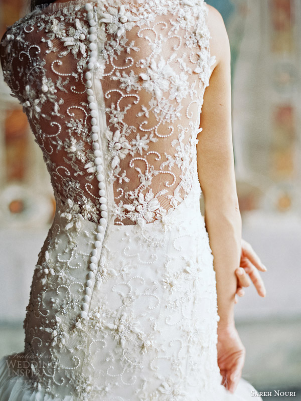 sareh nouri bridal fall 2014 field of love wedding dress illusion back detail