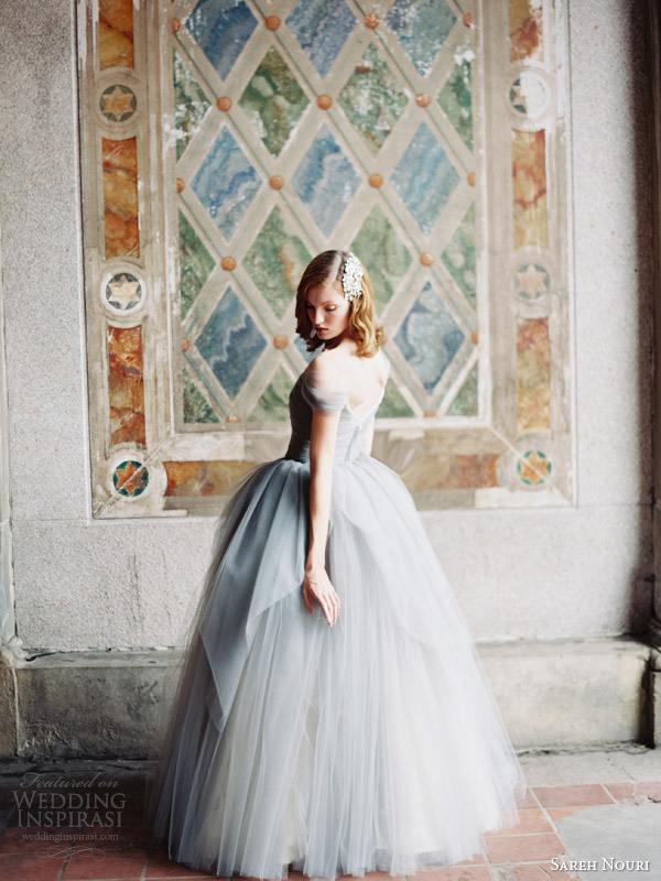 sareh nouri bridal fall 2014 marie antoinette wedding dress powder blue back