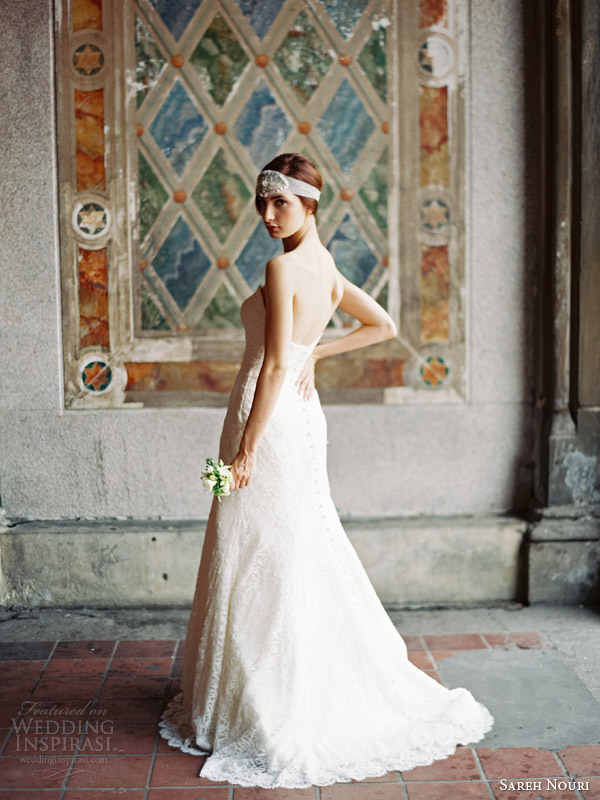sareh nouri fall 2014 bridal allie strapless wedding dress back