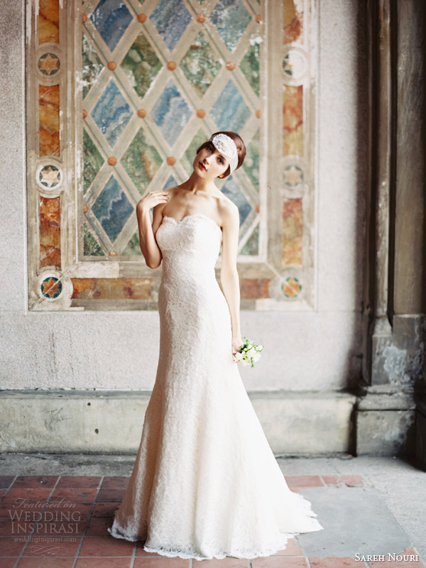 sareh nouri fall 2014 bridal allie strapless wedding dress