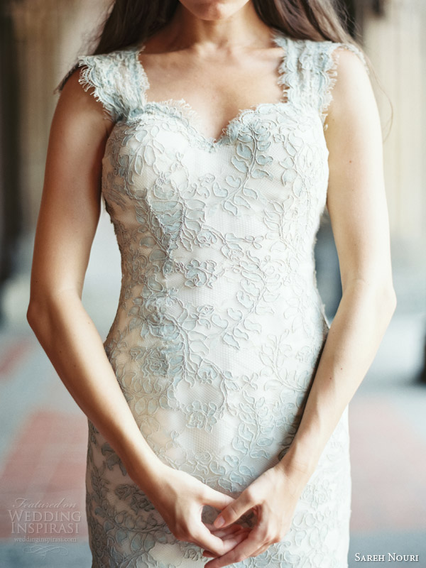 sareh nouri fall 2014 bridal liza short wedding dress color