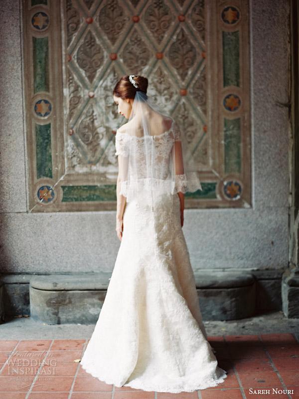 sareh nouri wedding dresses fall 2014 bridal clara off shoulder gown illusion back