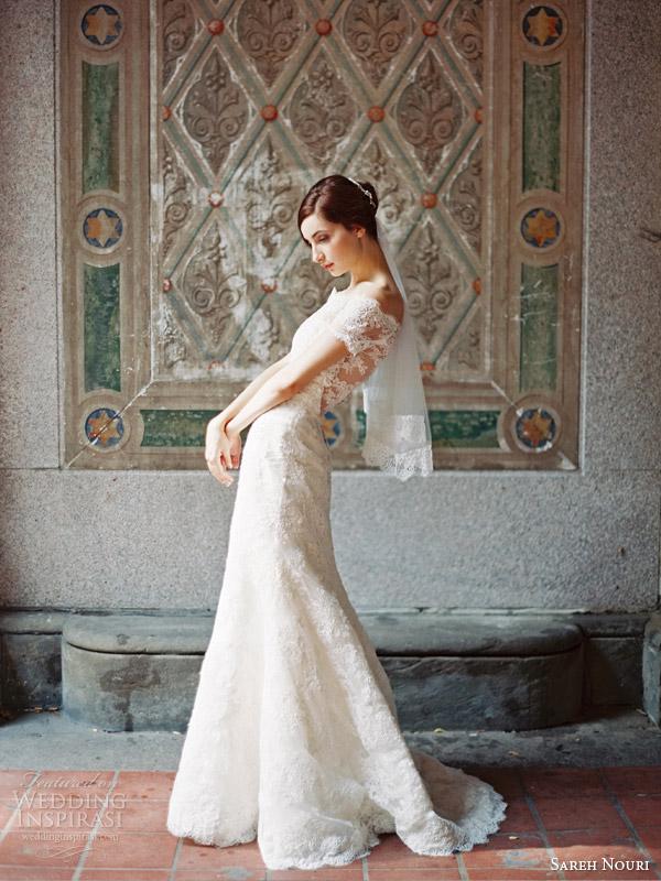 sareh nouri wedding dresses fall 2014 bridal clara off shoulder gown