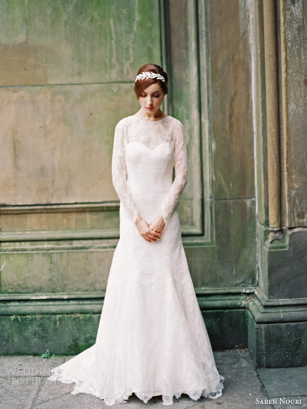 sareh nouri wedding dresses fall 2014 estelle long sleeve gown