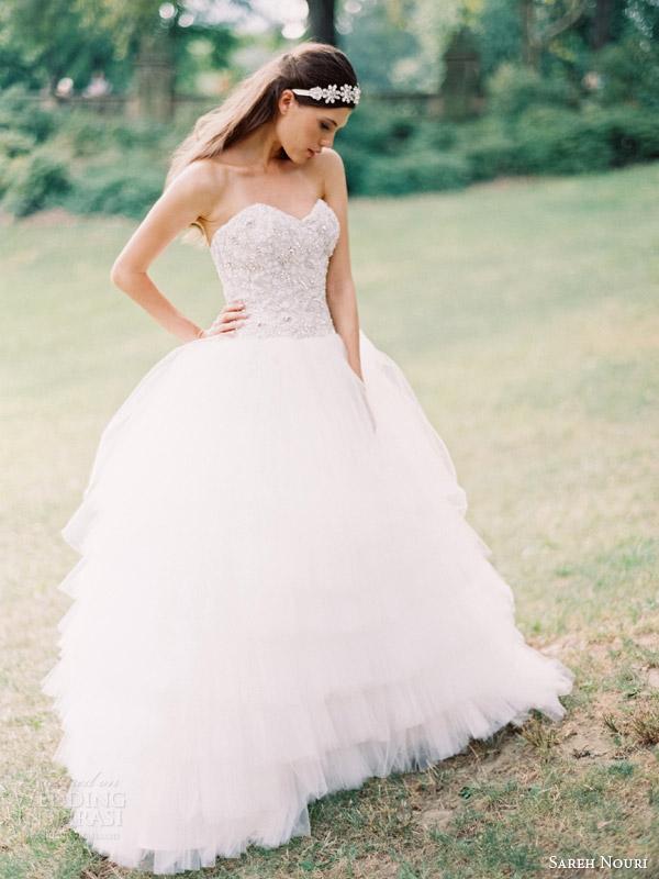 sareh nouri wedding dresses fall 2014 lily strapless ball gown