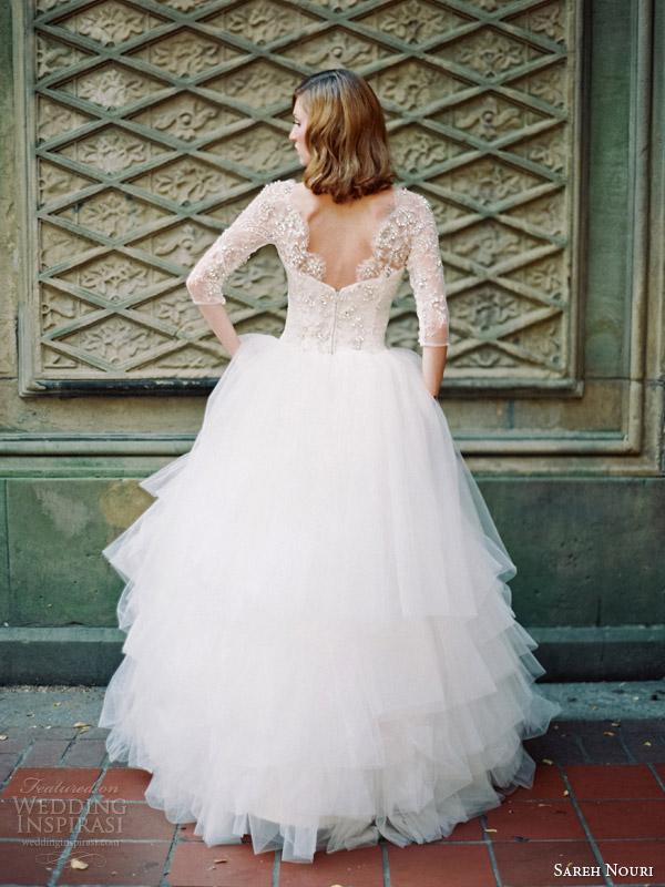 sareh nouri ziba wedding dress fall 2014 back view