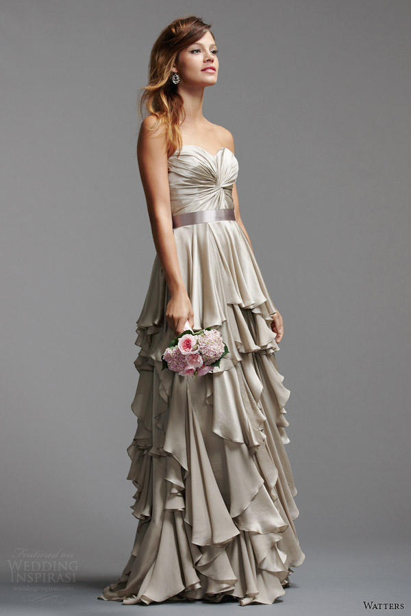 watters brides 2014 color wedding dresses style 5039B