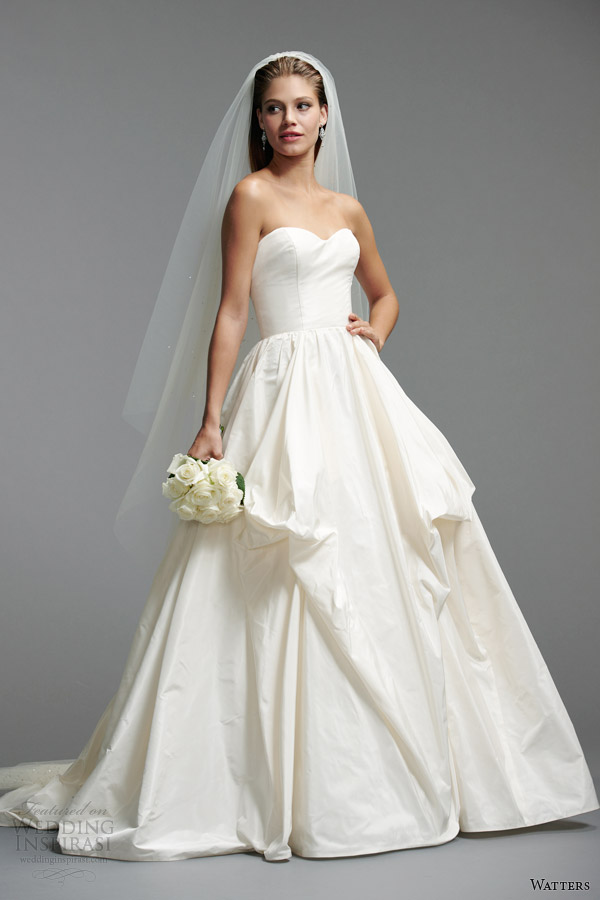 watters brides 2014 strapless wedding dress style 5054B