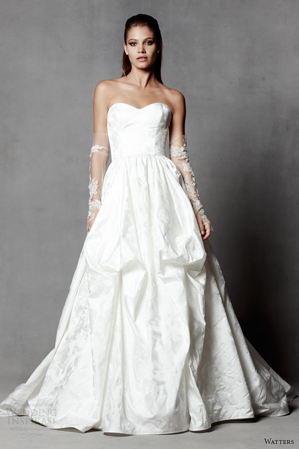 watters brides spring 2014 strapless wedding dress style 5055B