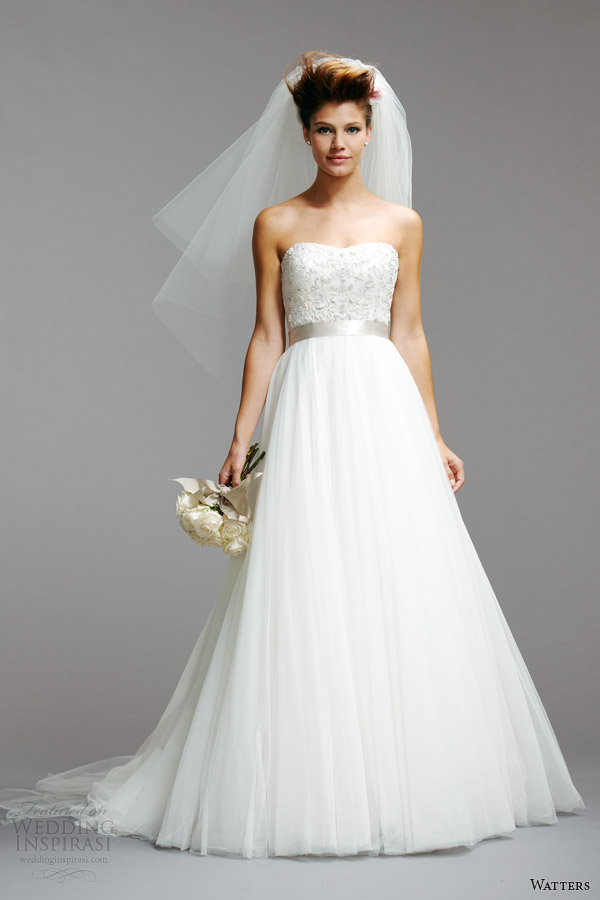 watters wedding dresses spring 2014 strapless gown style 5073B