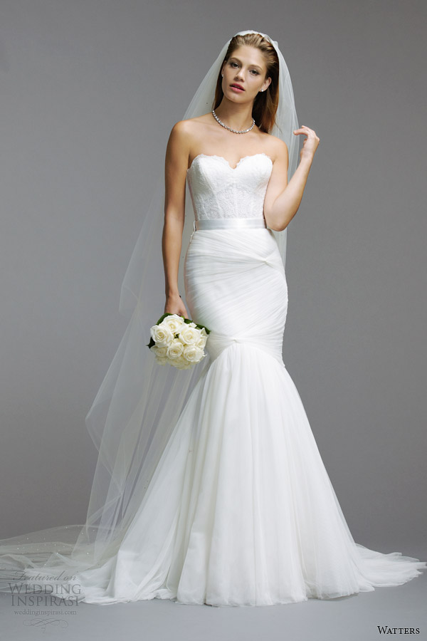 watters wedding dresses spring 2014 strapless gown style 5082B