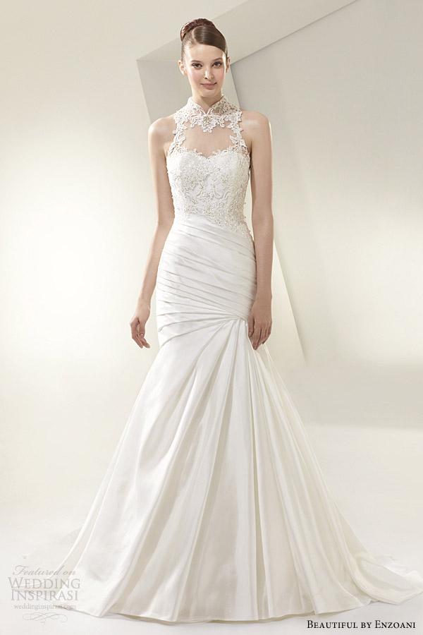 beautiful by enzoani 2014 sleeveless high neck wedding dress style bt14 16