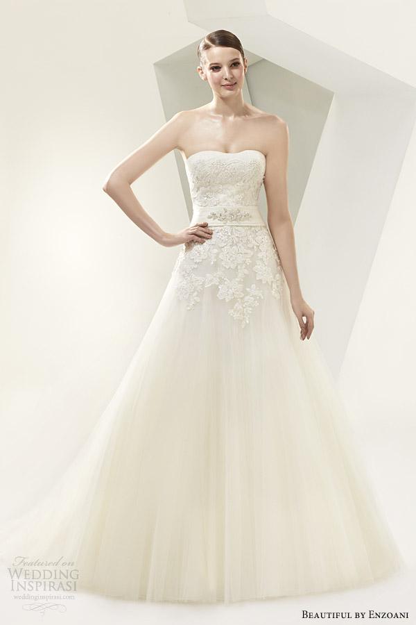 beautiful by enzoani 2014 strapless wedding dress style bt14 4