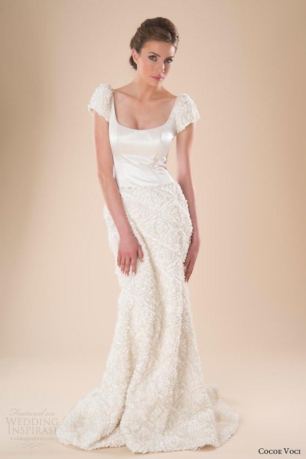 Cocoe voci spring 2014 wedding dresses wedding inspirasi for Puff sleeve wedding dress