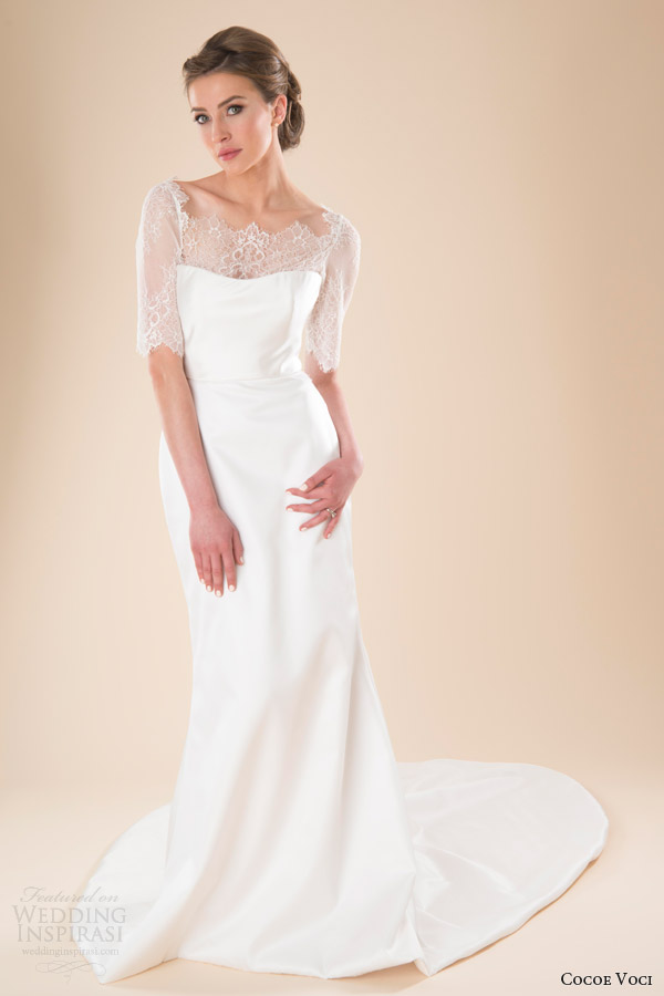 Cocoe voci spring 2014 wedding dresses wedding inspirasi for Wedding dresses with half sleeves
