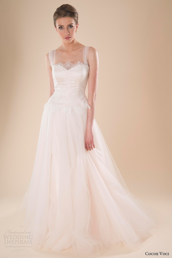Cocoe voci spring 2014 wedding dresses wedding inspirasi for Wedding dresses with tulle skirts