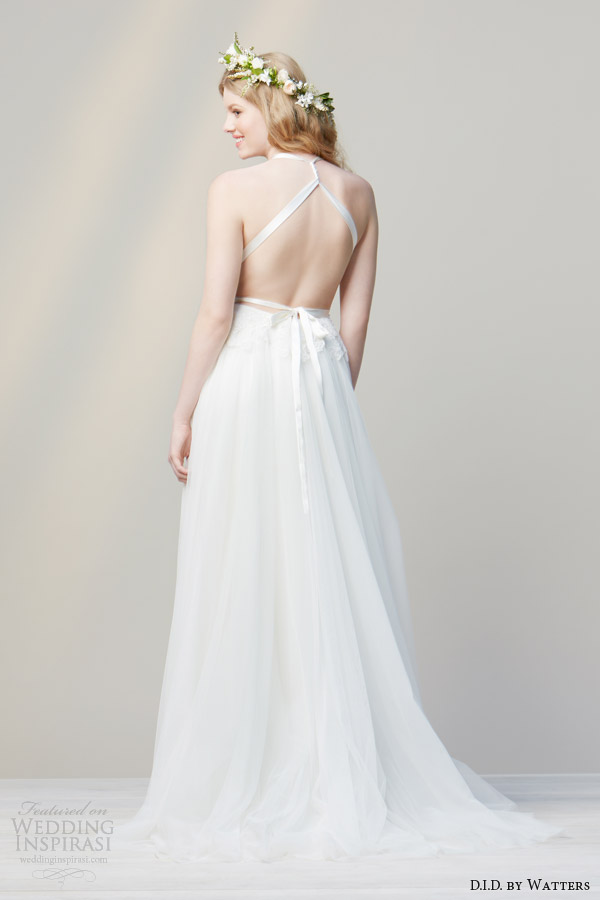 D i d by watters spring 2014 wedding dresses wedding for Cross back wedding dress