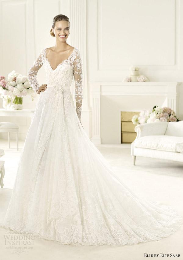 Elie by elie saab bridal 2014 collection for pronovias for Elie saab wedding dress 2013