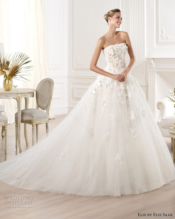 elie by elie saab for pronovias 2014 mensa strapless wedding dress