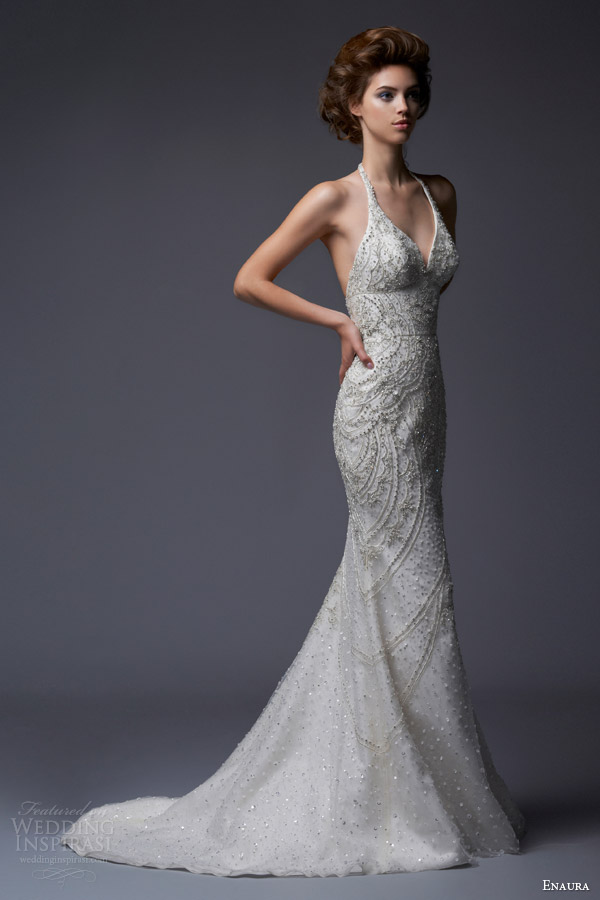 Enaura bridal fall 2013 wedding dresses wedding inspirasi for Wedding dress neckline styles