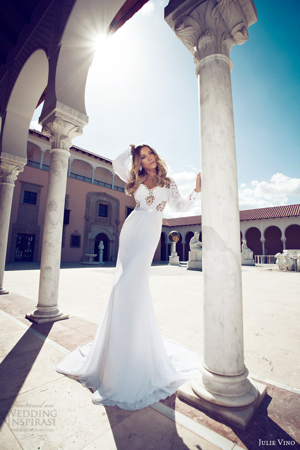 julie vino 2014 bridal long sleeve wedding dress