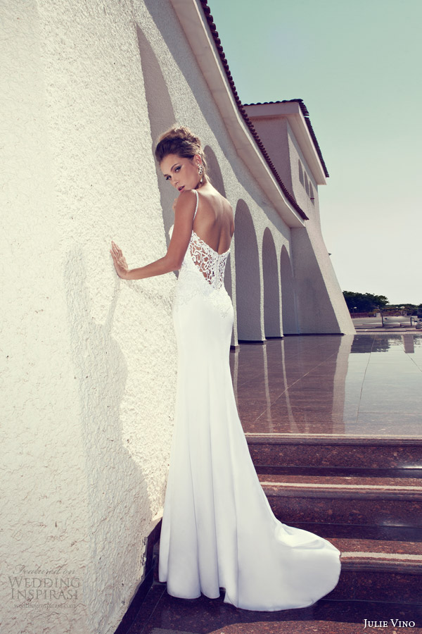 julie vino bridal 2014 sheath wedding dress straps back