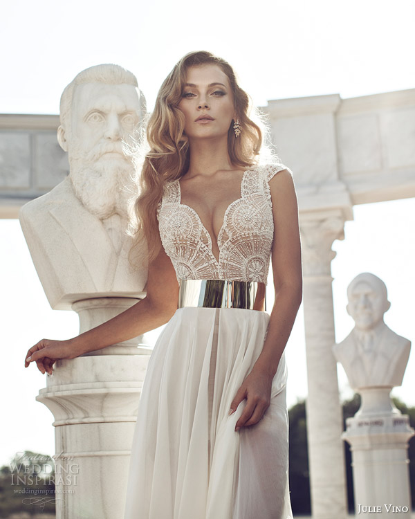 julie vino fall 2014 cap sleeve wedding dress