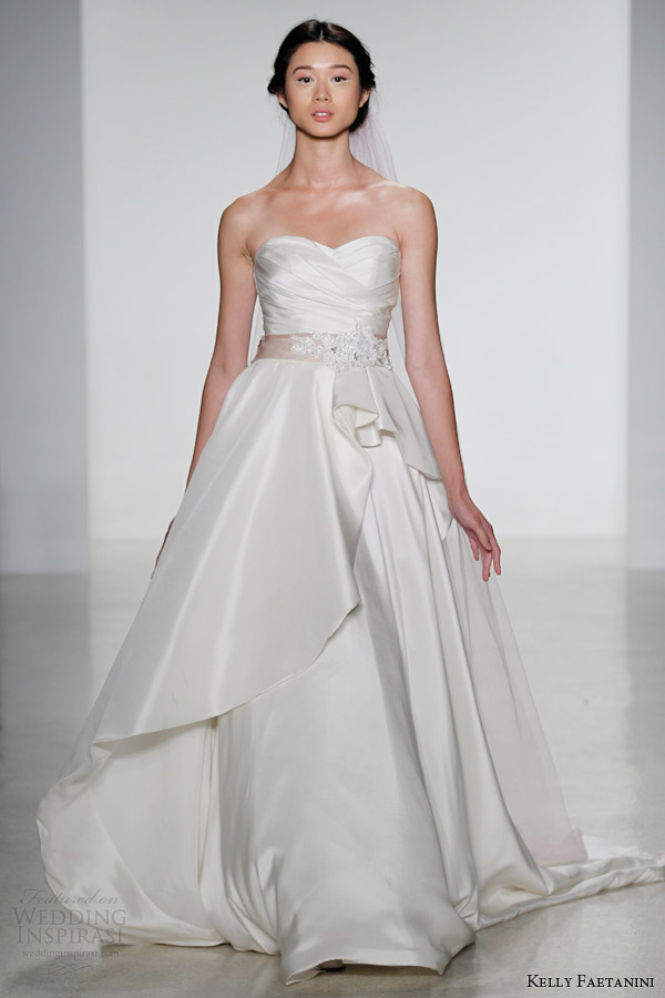 kelly faetanini wedding dresses fall 2014 bridal genevieve strapless gown