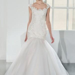 legends romona keveza fall 2014 bridal cap sleeve fit flare wedding dress gpm 6005
