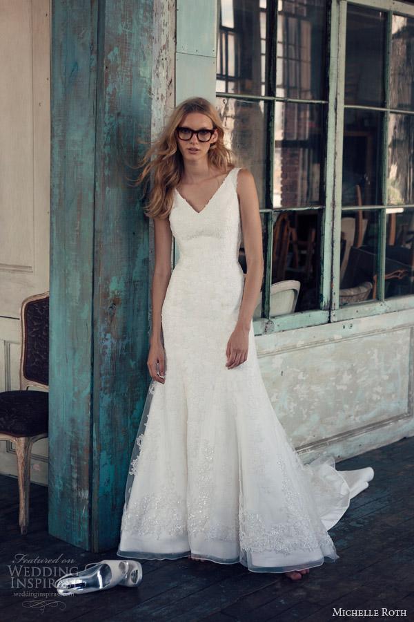 michelle roth 2014 raevynn sleeveless wedding dress