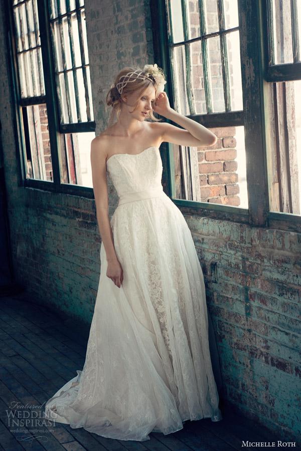 michelle roth wedding dresses 2014 bridal regina strapless ball gown