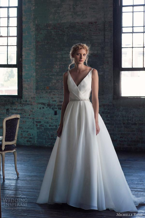 Michelle roth 2014 wedding dresses wedding inspirasi for Cinched waist wedding dress