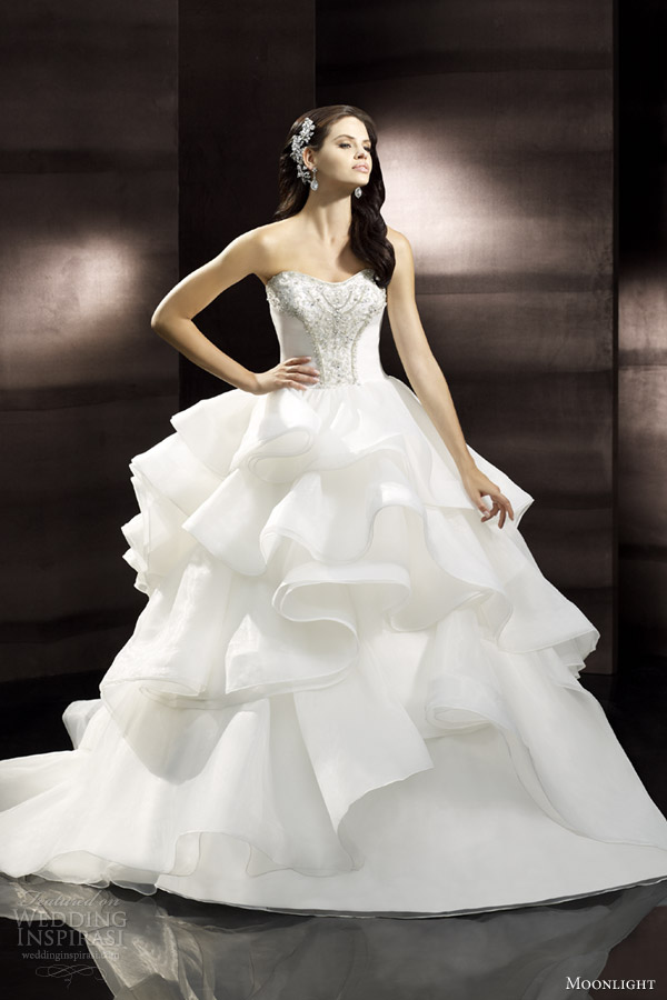 moonlight collection bridal spring 2014 wedding dress style j6302 f