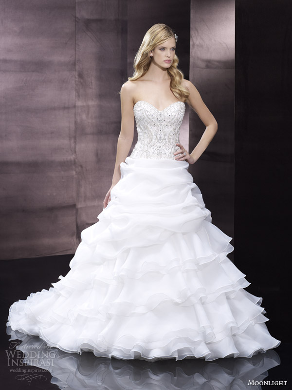 moonlight couture bridal spring 2014 strapless ball gown style h1248