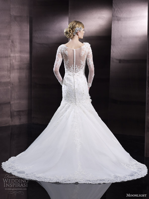 moonlight couture h1242 back view sping 2014 wedding dresses
