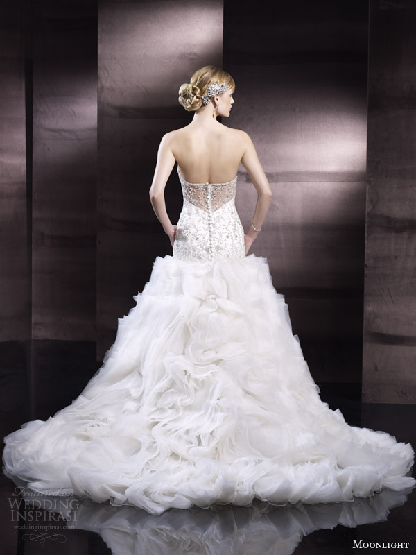 moonlight couture wedding dress spring 2014 style h1250 back