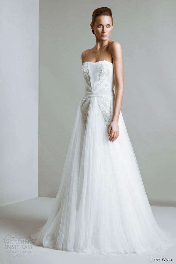 tony ward bridal 2014 collection vivien strapless wedding dress