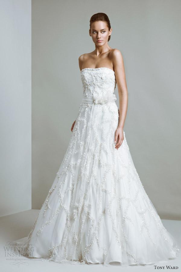 tony ward bridal 2014 couture constellation strapless wedding dress