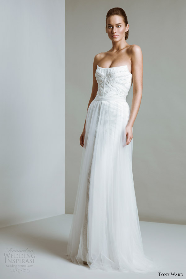 tony ward bridal 2014 margaret strapless wedding dress