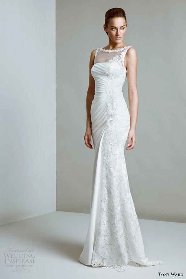ala tony Bridal Couture 2014 audrey vestido de noiva decote bateau Ilusão