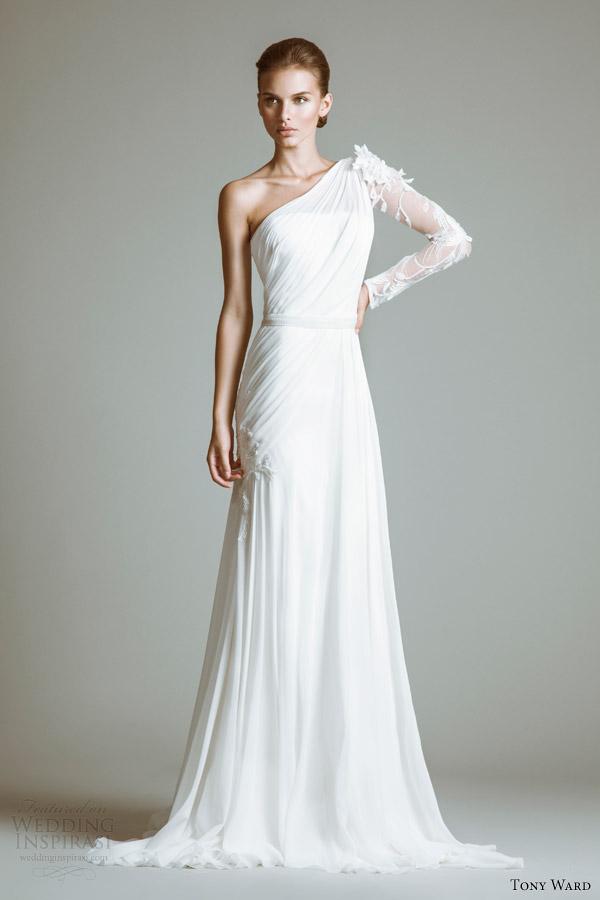 Elegant Tony Ward 2017 Bridal Collection Wedding Inspirasi. Stunning One Shoulder  ...