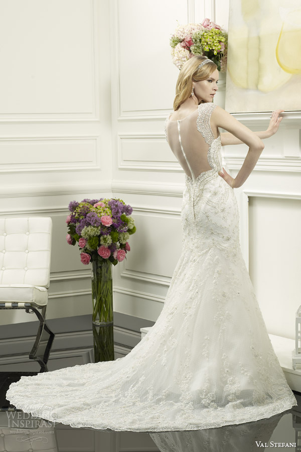 val stefani bridal spring 2014 mermaid wedding dress style d8061 illusion back