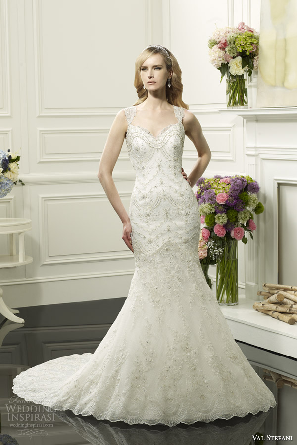 val stefani bridal spring 2014 mermaid wedding dress style d8061
