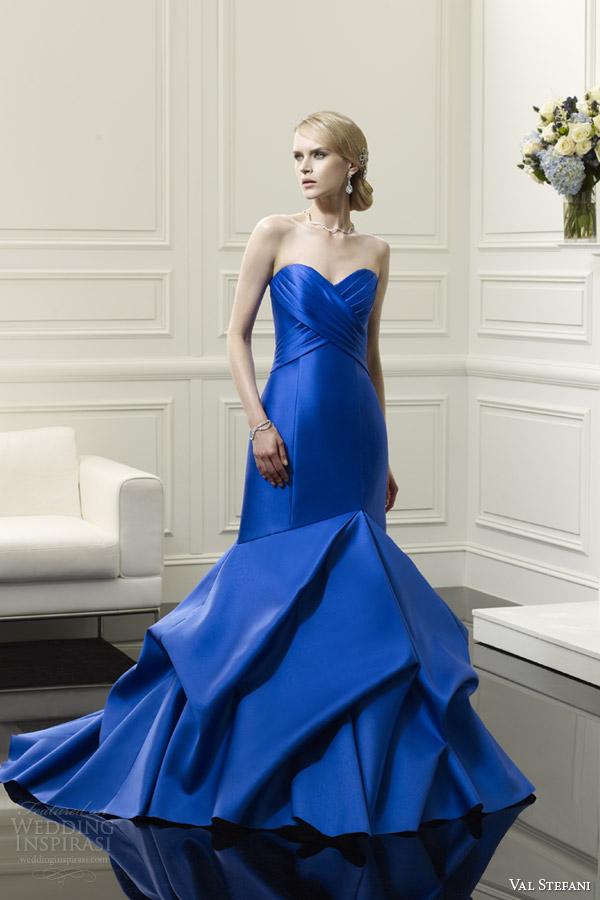 val stefani spring 2014 blue wedding dress style d8051
