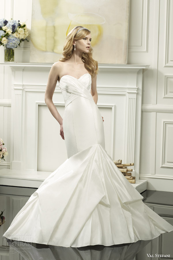 val stefani spring 2014 strapless mermaid wedding dress style d8052