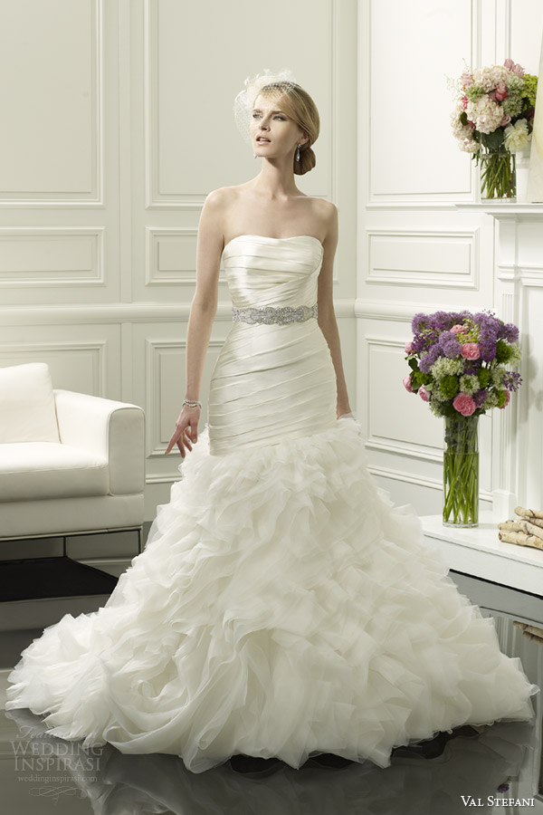 val stefani spring 2014 strapless mermaid wedding dress style d8054