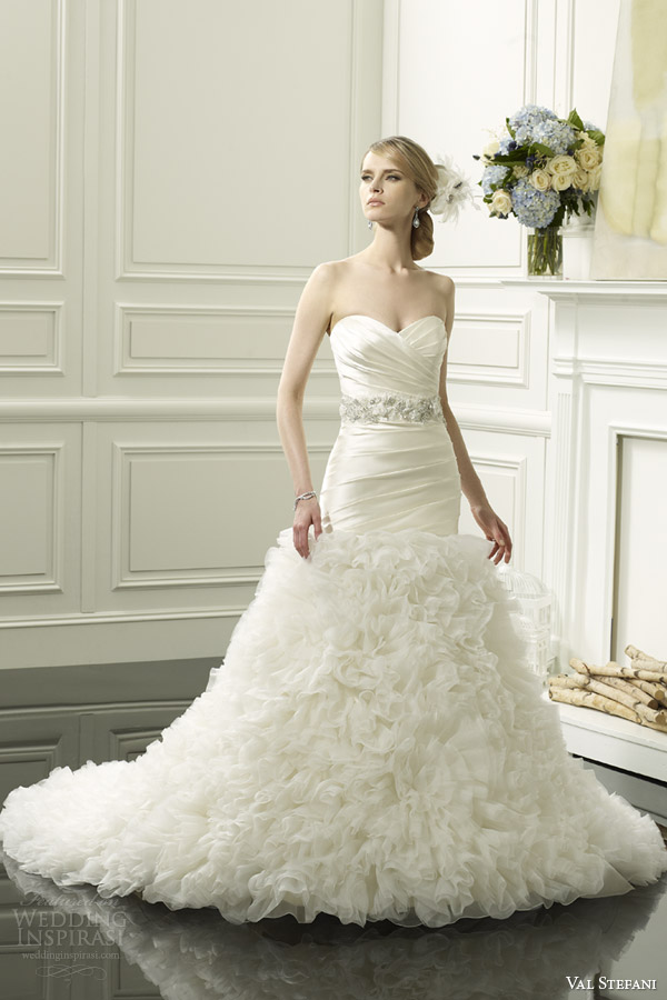 val stefani spring 2014 strapless mermaid wedding dress style d8055