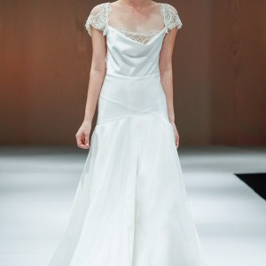 victoria kyriakides fall 2014 short sleeve wedding dress eden