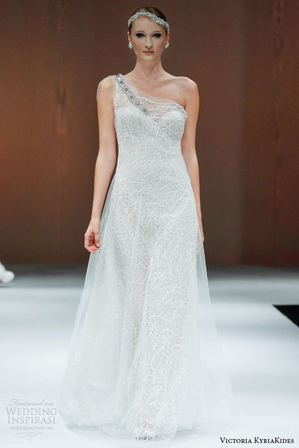 victoria kyriakides wedding dresses fall 2014 bunches of love one shoulder gown