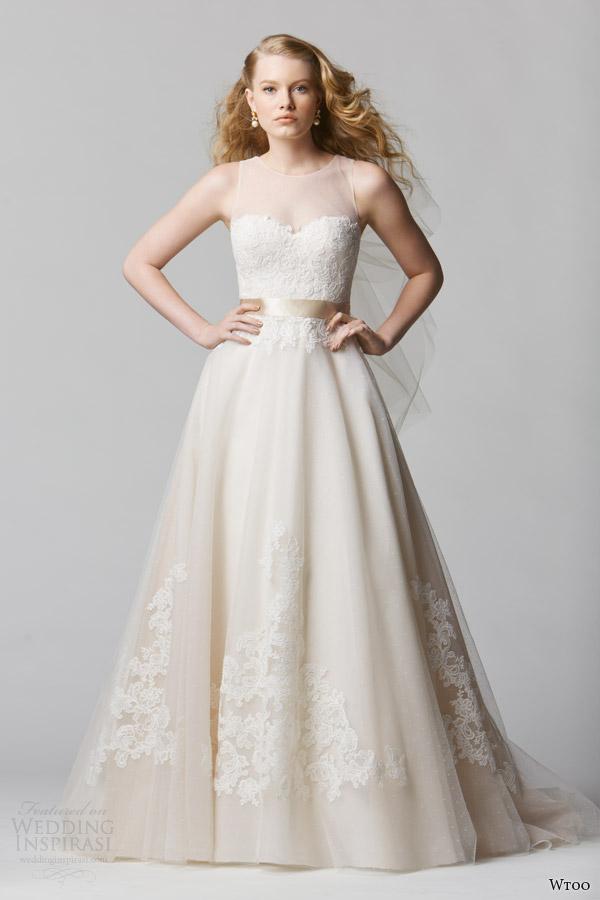 wtoo bridal spring 2014 sleeveless wedding dress style 12608 bellavista